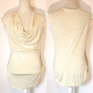 Max studio cream blouse, Sz Large
